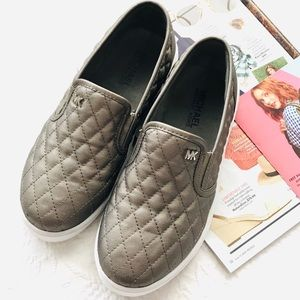 Michael Kors Quilted Slip On Shoes